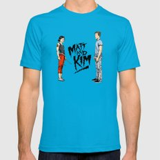 Matt and Kim Mens Fitted Tee Teal SMALL