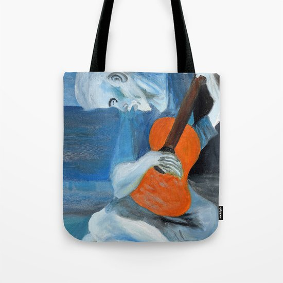 Picasso's Blue Man  Tote Bag