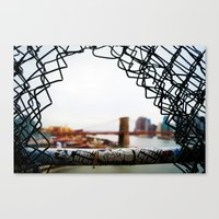Brooklyn Bridge From A Distance Canvas Print