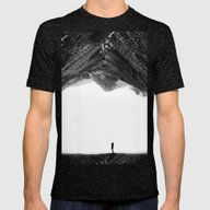 Lost In Isolation Mens Fitted Tee Tri-Black SMALL