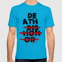 Death Before Dishonor Mens Fitted Tee Teal SMALL