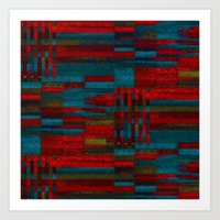 Dark Reds In Lines Of Ch… Art Print