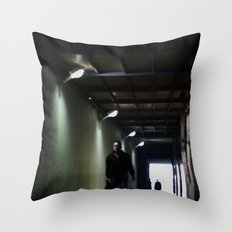 Dark Walk Throw Pillow