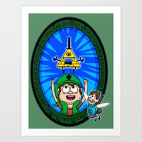 Gravity Falls: Hyrule Fa… Art Print