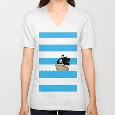 Pirates Love Stripes Unisex V-Neck