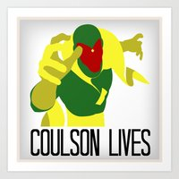 Agent Coulson, My One Good Eye. Art Print
