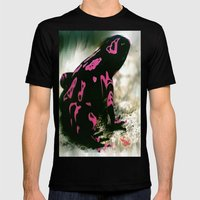 LOUNGE LIZARD Mens Fitted Tee Black SMALL