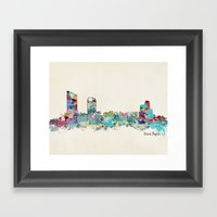 Grand Rapids Michigan skyline Framed Art Print