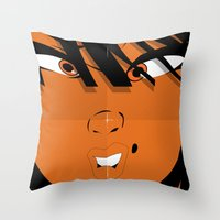Pop 01 Close - Colour Poster Edition Throw Pillow