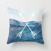 Deep sea arrows Throw Pillow