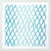 Net Water Art Print