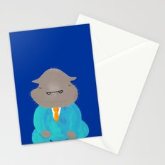 Napping Mr.Hippo Stationery Cards