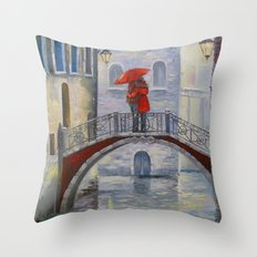 On a date Throw Pillow