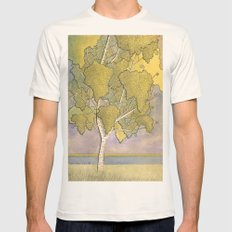 Birch 1 Mens Fitted Tee Natural SMALL