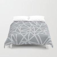 Ab Blocks Grey #2 Duvet Cover