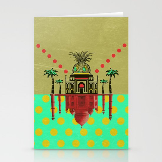 pineapple architecture 2 Stationery Card