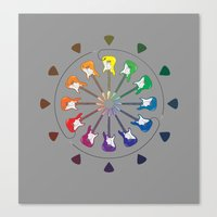 Vivid Melody Canvas Print