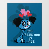 The Blue Dog Is Love Canvas Print