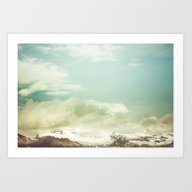 Cloudy Mountains VIII Art Print