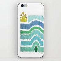 :: Princess n' Pea (Mint) iPhone & iPod Skin