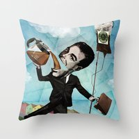 Superheroes SF - For The… Throw Pillow