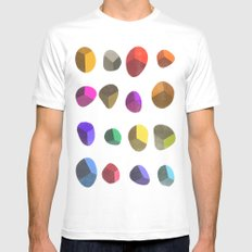 Painted Pebbles 2 SMALL White Mens Fitted Tee