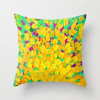 SPRING SPLASH - Bright C… Throw Pillow