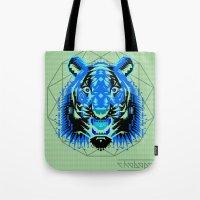 Geometric Tiger Tote Bag