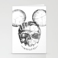 Mickey Skull Stationery Cards