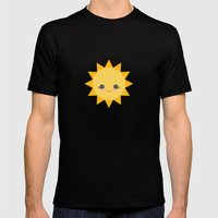 Sunshine  Mens Fitted Tee Black SMALL
