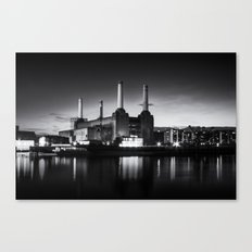 Battersea Power Station in monochrome Canvas Print