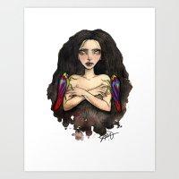 Leaf Hopper Friends Art Print