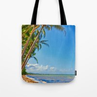 Coconut palms in Tropical North Queensland Tote Bag