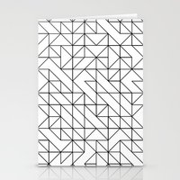 BW TRIANGLE PATTERN Stationery Cards
