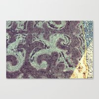 Felt Door Mat, Mongolia Canvas Print