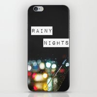 Rainy Nights iPhone & iPod Skin