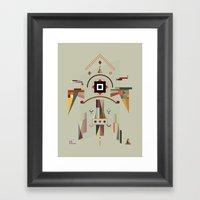 the good silence Framed Art Print