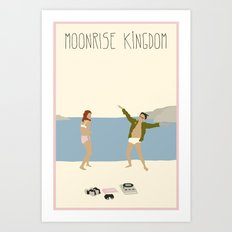 MOONRISE KINGDOM COVE Art Print