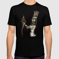 Zombie Pastry Chef Mens Fitted Tee Black SMALL