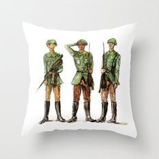 Barely Soldiers Throw Pillow