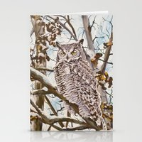 Sam's Great Horned Owl Stationery Cards