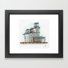 house by the railroad 2.0 Framed Art Print
