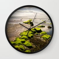 Away to the Sea Wall Clock