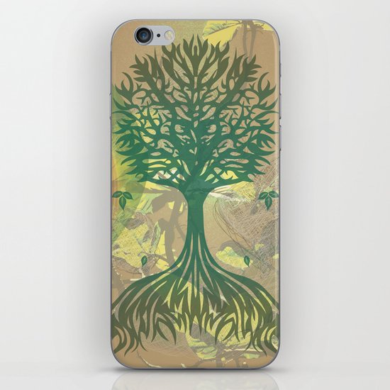 Color My World Green iPhone & iPod Skin