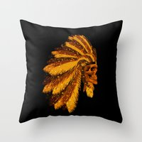 FIRST AMERICAN-006 Throw Pillow