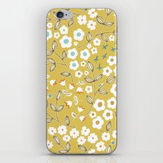 Ditsy Mustard iPhone & iPod Skin