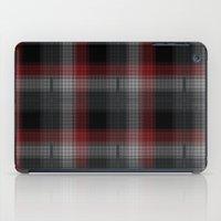 Black, Red, Lumberjack Plaid iPad Case