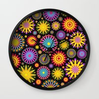 Bright And Colorful Flow… Wall Clock