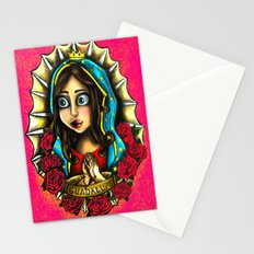 Lady Of Guadalupe (Virgen de Guadalupe) PINK VERSION Stationery Cards