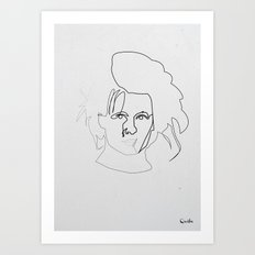 One line Edward Scissorhands Art Print